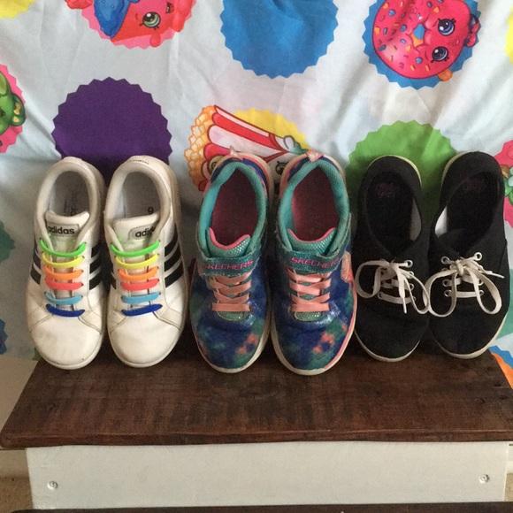 Adidas zapatos 3 pares de chicas poshmark